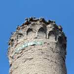 Détail du minaret de la mosquée Melik Sunullah à Battalgazi