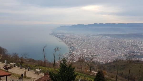 La ville d'Ordu vue de la colline de Boztepe